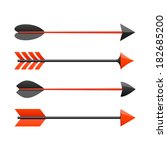 bow arrows. vector. | Shutterstock .eps vector #182685200