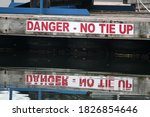 Danger Sign With Red Letters On ...
