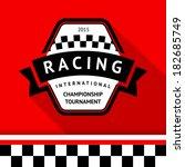 racing badge 05  vector... | Shutterstock .eps vector #182685749