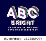 vector bright alphabet. layered ... | Shutterstock .eps vector #1826869079