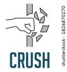 crush concept   fist destroying ...   Shutterstock .eps vector #1826870270