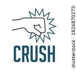 crush concept   fist destroying ...   Shutterstock .eps vector #1826870273