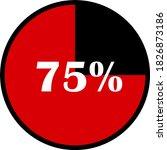 circle percentage diagrams... | Shutterstock .eps vector #1826873186