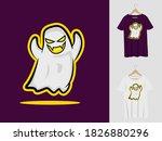gosh boo halloween mascot...   Shutterstock .eps vector #1826880296