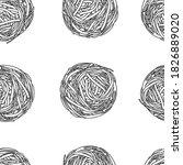 seamless pattern of large balls ... | Shutterstock .eps vector #1826889020