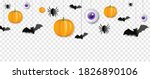 Border With Bats And Pumpkins...