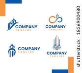 a modern logo bundle real... | Shutterstock .eps vector #1826900480