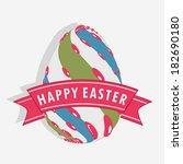happy easter celebrations... | Shutterstock .eps vector #182690180