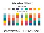 color palette. fall winter 2020 ... | Shutterstock .eps vector #1826907203