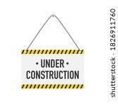 banner for under construction.... | Shutterstock .eps vector #1826911760