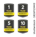 badges set with year warranty... | Shutterstock .eps vector #1826913443