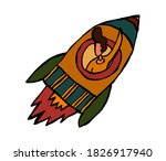 businessman inside rocket...   Shutterstock .eps vector #1826917940