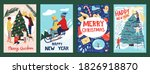 christmas postcards with people.... | Shutterstock .eps vector #1826918870