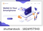 landing page template with... | Shutterstock .eps vector #1826957543