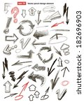 set of vector drawing abstract... | Shutterstock .eps vector #182696903