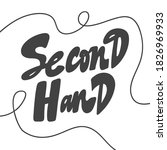 second hand. hand drawn...   Shutterstock .eps vector #1826969933