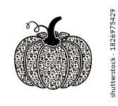 pumpkin. cute pumpkin with... | Shutterstock .eps vector #1826975429