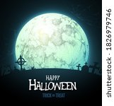 Halloween Background With Full...