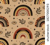seamless pattern with bohemian... | Shutterstock .eps vector #1827000293