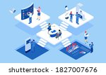 isometric concept of business...   Shutterstock .eps vector #1827007676