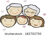portrait of a big family | Shutterstock . vector #182702750