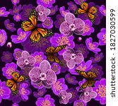 seamless background with purple ... | Shutterstock .eps vector #1827030599