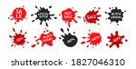 black friday sale splash shape...   Shutterstock .eps vector #1827046310