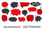 black friday sale speech bubble ... | Shutterstock .eps vector #1827046340