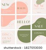green pink social media post... | Shutterstock .eps vector #1827053030
