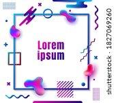 modern and trendy invitation... | Shutterstock .eps vector #1827069260