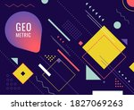 abstract geometric form line... | Shutterstock .eps vector #1827069263