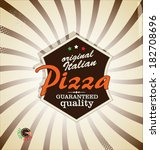 pizza retro background | Shutterstock .eps vector #182708696