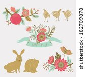 happy easter collection | Shutterstock .eps vector #182709878