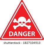 red danger skull crossbones... | Shutterstock .eps vector #1827104513