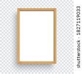 rectangle wooden frame isolated ...   Shutterstock .eps vector #1827119033