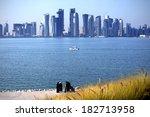 Stock photo skyline of the doha 182713958