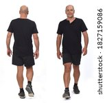 front and back view of  man... | Shutterstock . vector #1827159086