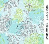 ornamental flower background.... | Shutterstock .eps vector #182716088