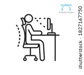 Ergonomic Workplace Icon....