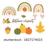autumn clipart. autumn rainbow  ...   Shutterstock . vector #1827174023