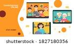 thanksgiving online banner.... | Shutterstock .eps vector #1827180356