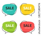 set of flat speech bubble... | Shutterstock .eps vector #1827180476
