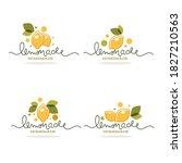 homemade lemonade  vector... | Shutterstock .eps vector #1827210563