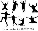 the set of soccer player... | Shutterstock .eps vector #182721059