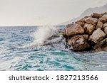 Sea Waves Hitting Rocks....