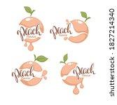 sweet peach flavor. vector... | Shutterstock .eps vector #1827214340