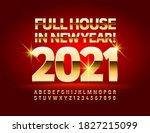 vector wish card full house in... | Shutterstock .eps vector #1827215099