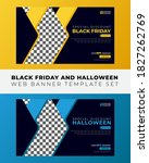 black friday and halloween new...   Shutterstock .eps vector #1827262769