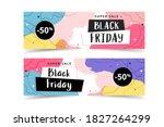 black friday banner set ... | Shutterstock .eps vector #1827264299