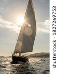 Sailing Yacht Sailing In The...